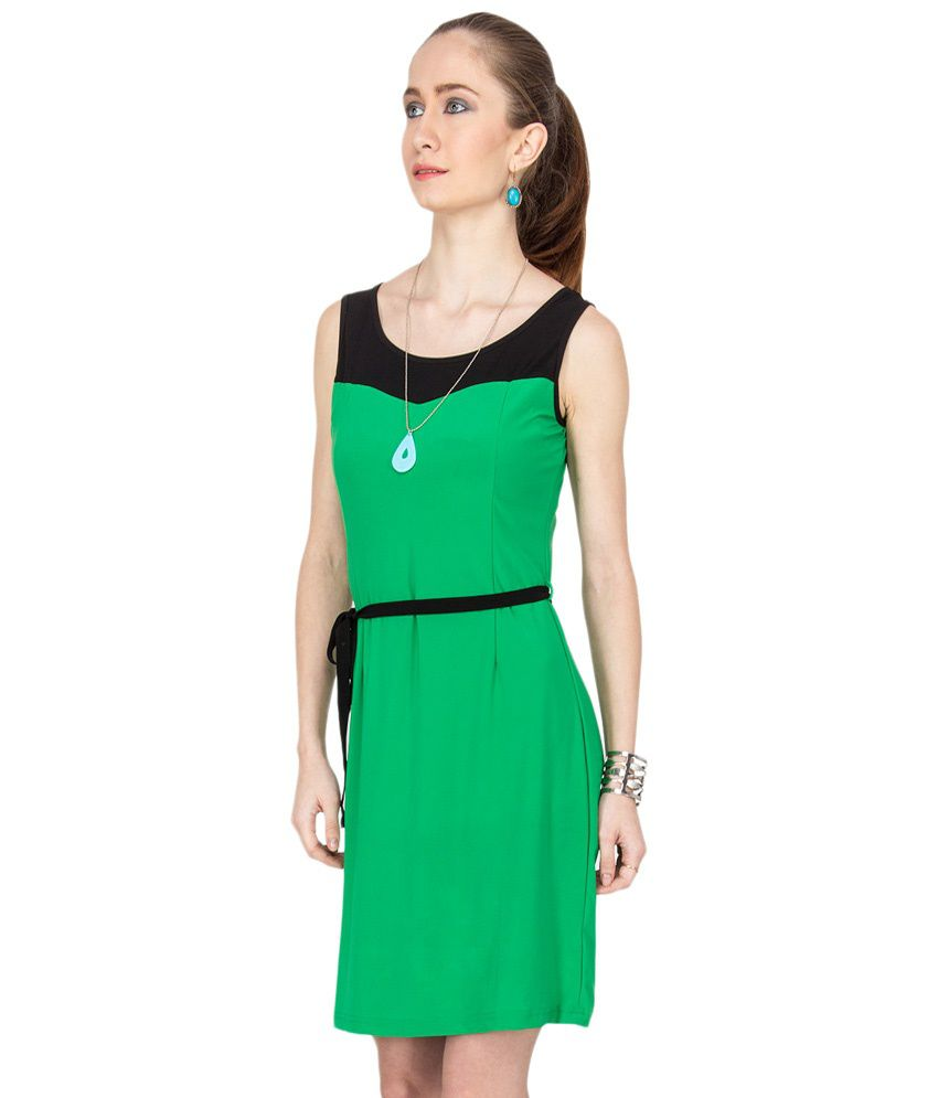 2d08d5e2ee Kaxiaa Green & Black Casual Dress - Buy Kaxiaa Green & Black Casual ...