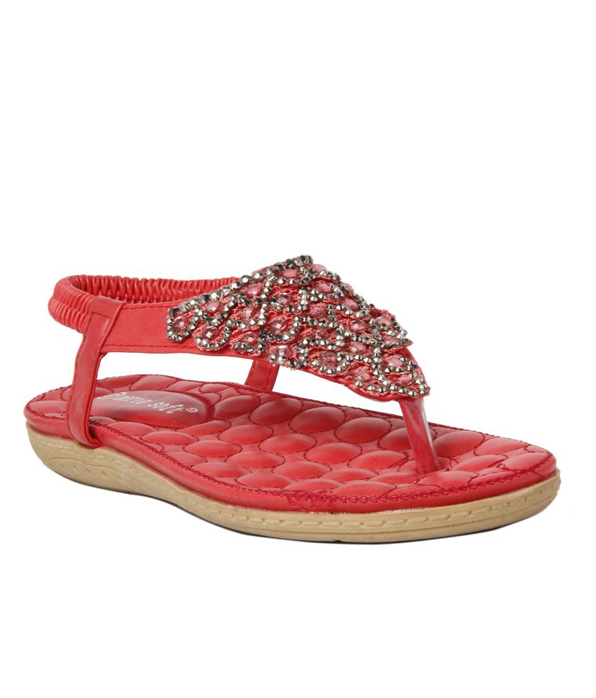 Marie Soft Red Sandals