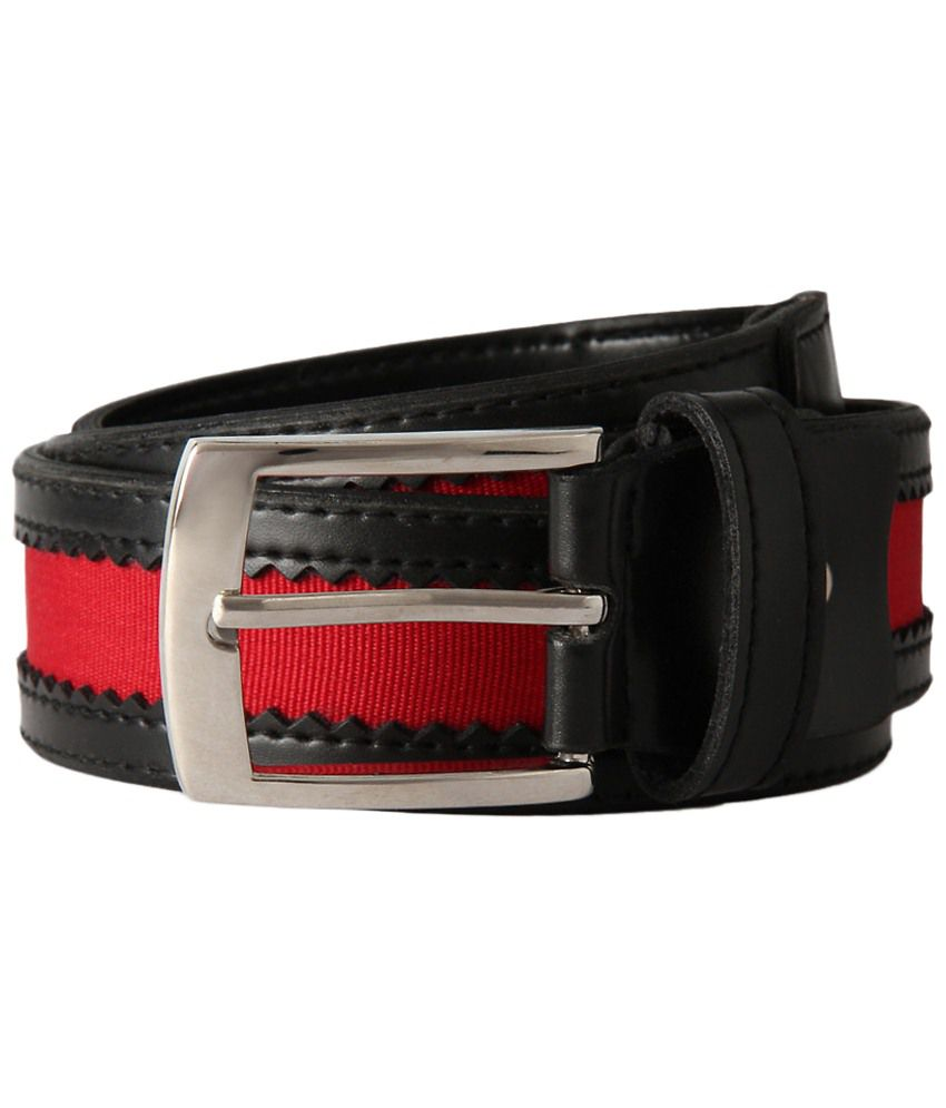 Peter England Red & Black Casual Belt