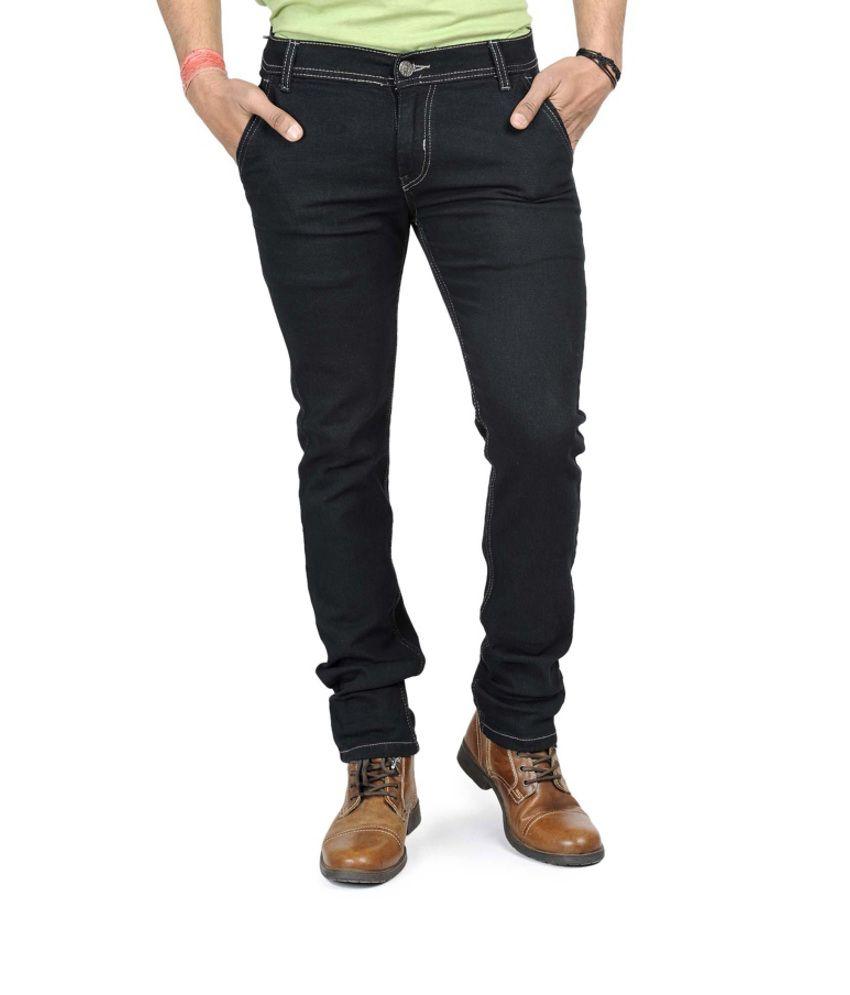 ESPRILLA Black Slim Fit Jeans