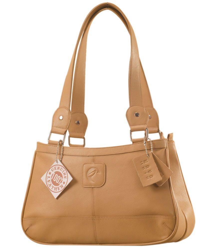 Ezeebags YA818v1Tan Tan Shoulder Bags