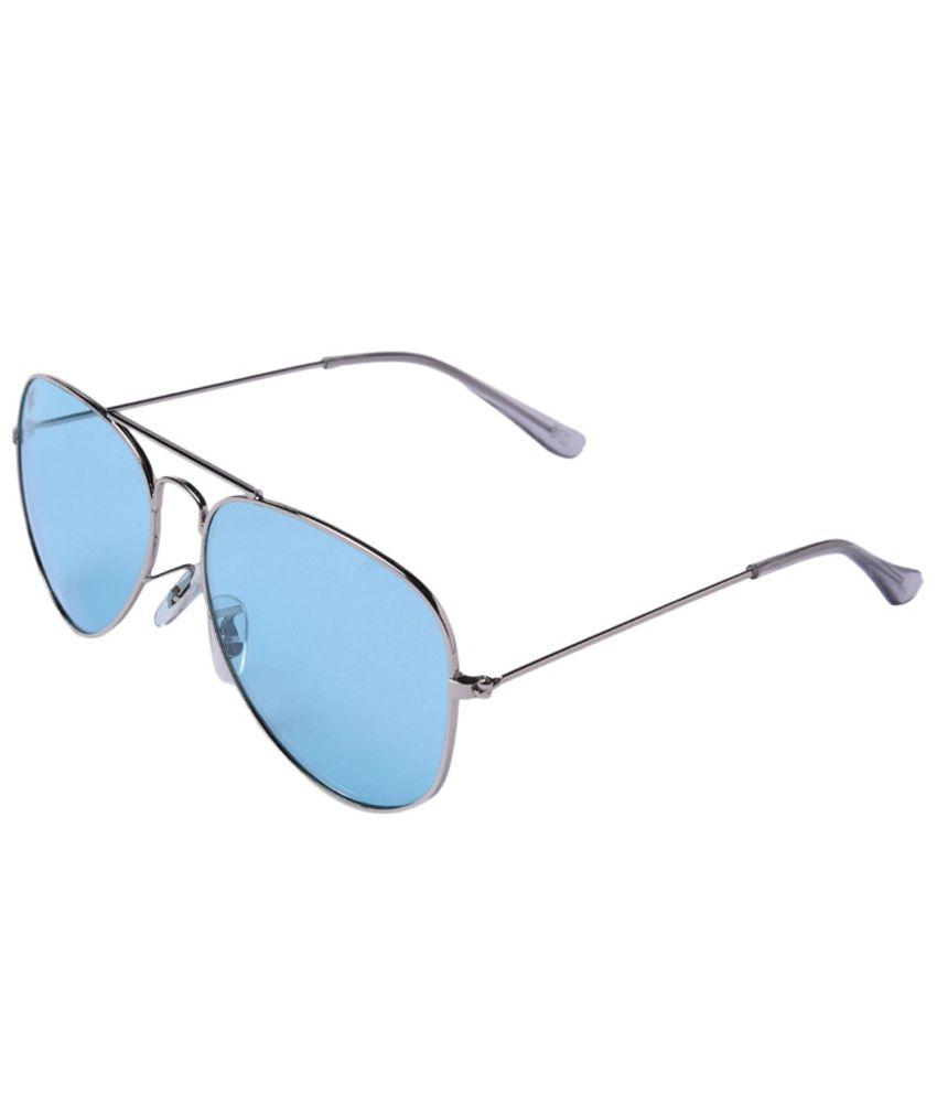 MTV Blue Medium Unisex Pilot Sunglasses
