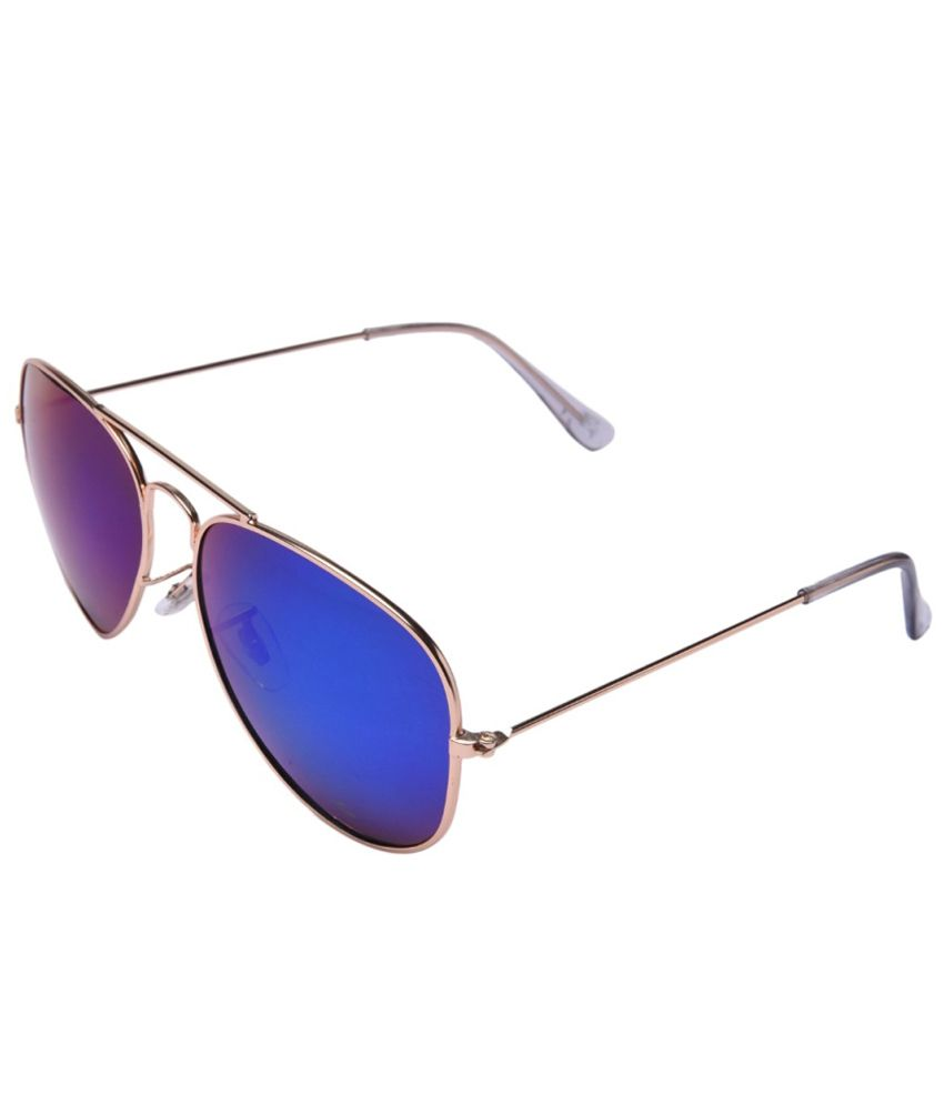 MTV Blue Medium Unisex Pilot Sunglasses
