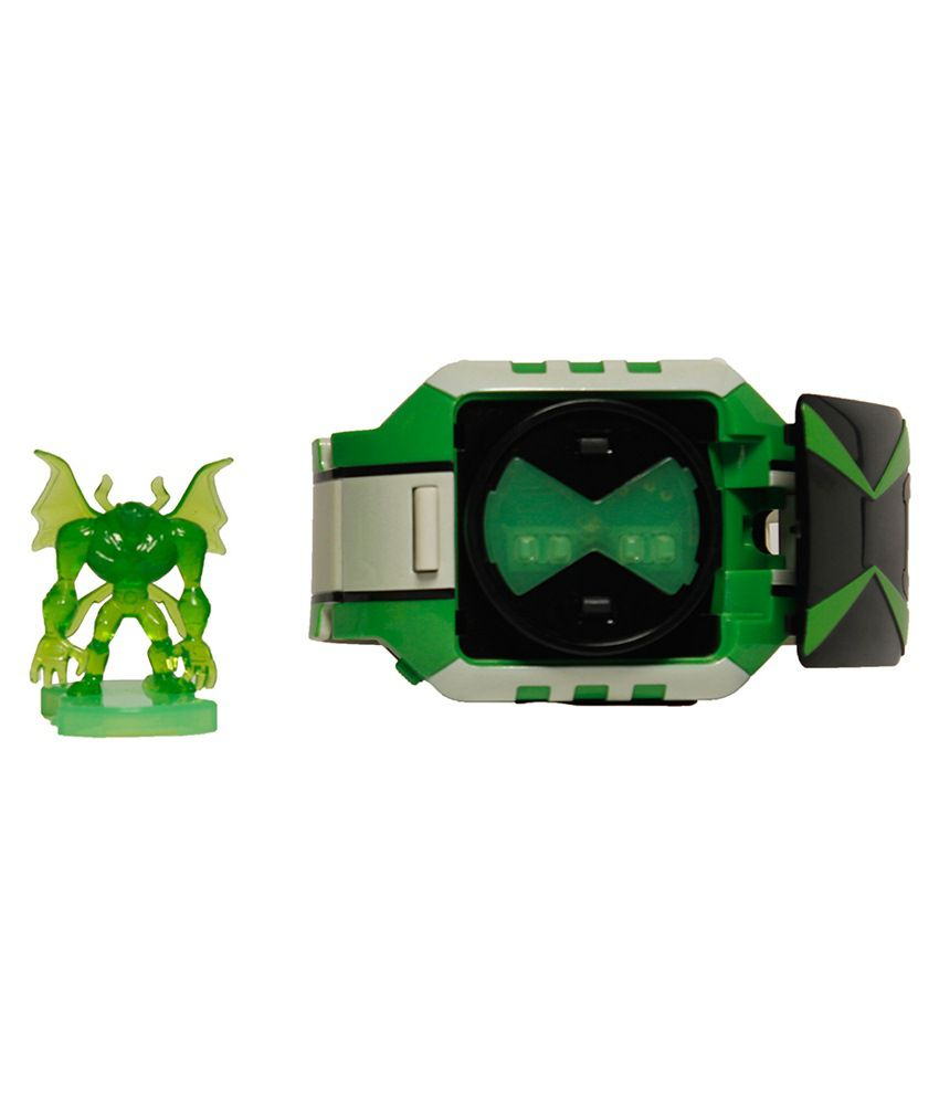 Ben10 White & Green Plastic Roleplay-mid Omnitrix