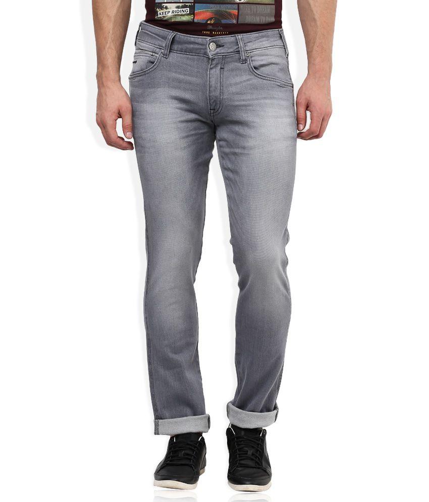 Wrangler Grey Light Wash Regular Fit Jeans