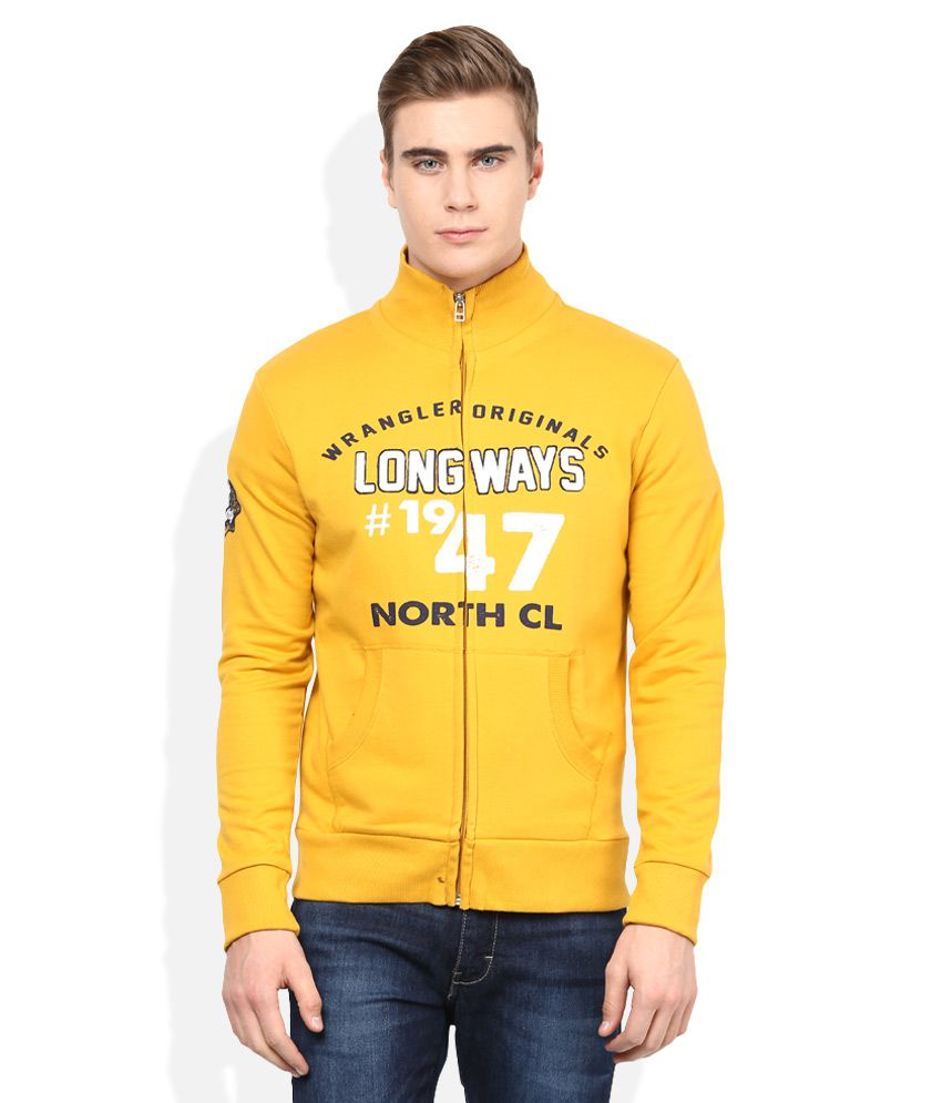 2f24519f8 Wrangler Yellow Sweatshirt - Buy Wrangler Yellow Sweatshirt Online at Low  Price in India - Snapdeal