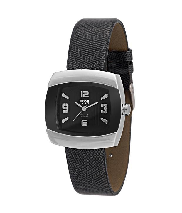 Axe Style Axe Style Black Square Analog Watch