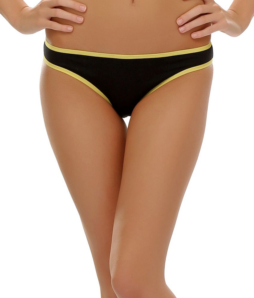 14c805c37ea Buy Clovia Funky Message Bikini Brief Panty In Black Online at Best Prices  in India - Snapdeal