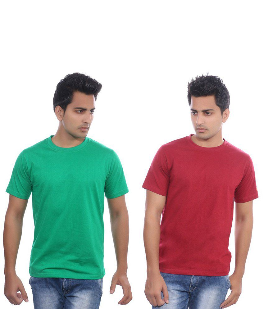 Fabilano Green & Red Cotton T-shirt