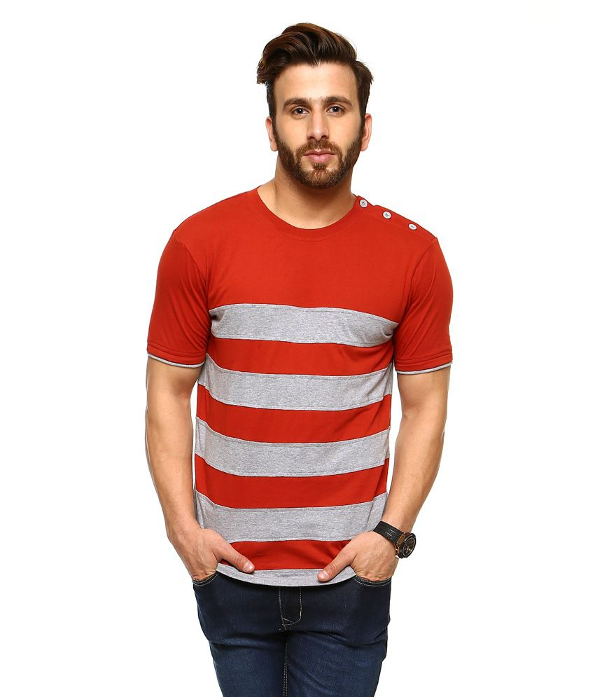 Gritstones Brown Half Sleeves Basic Polo T Shirt