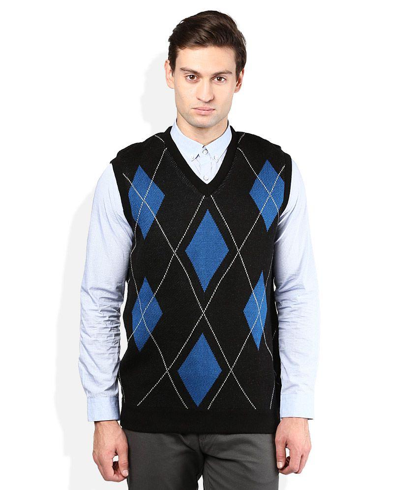 Proline Black V-Neck Sweater