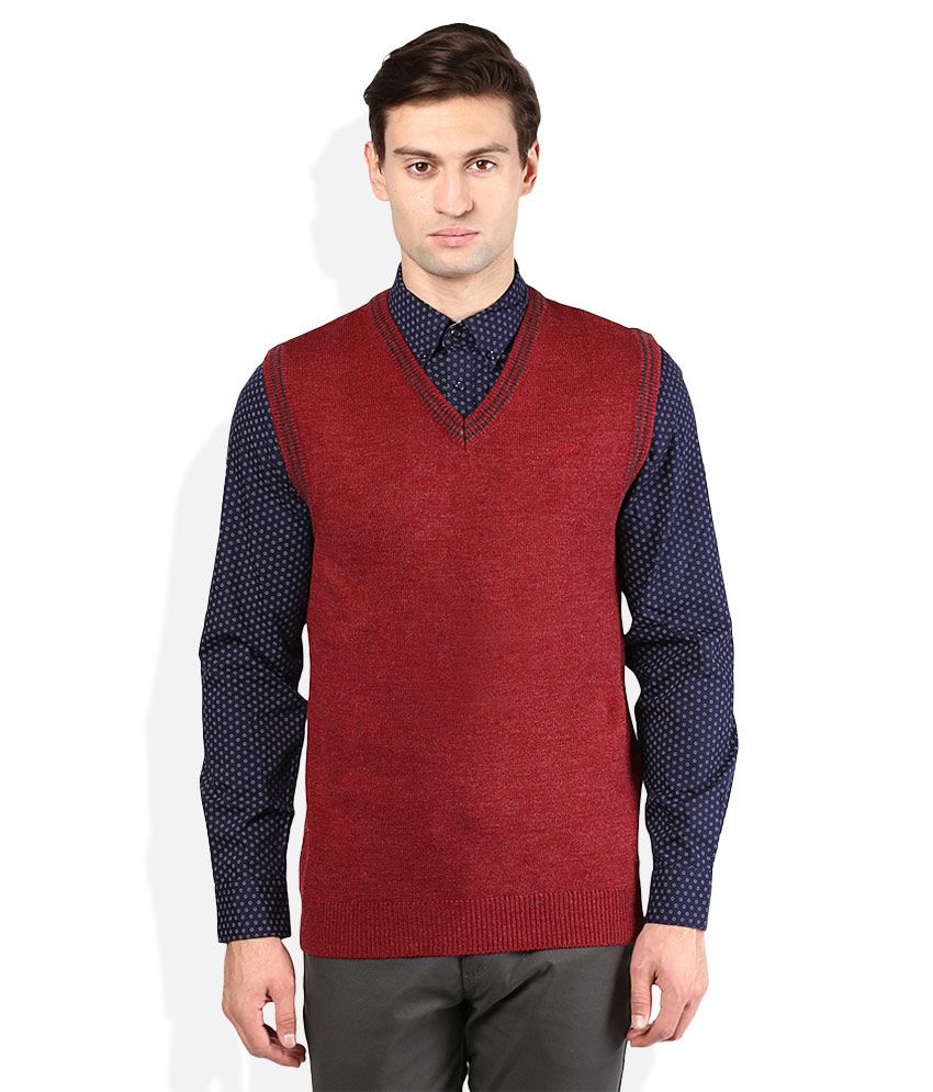 Proline Red V-Neck Sweater