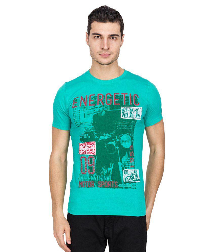 Iq Green Cotton T Shirt