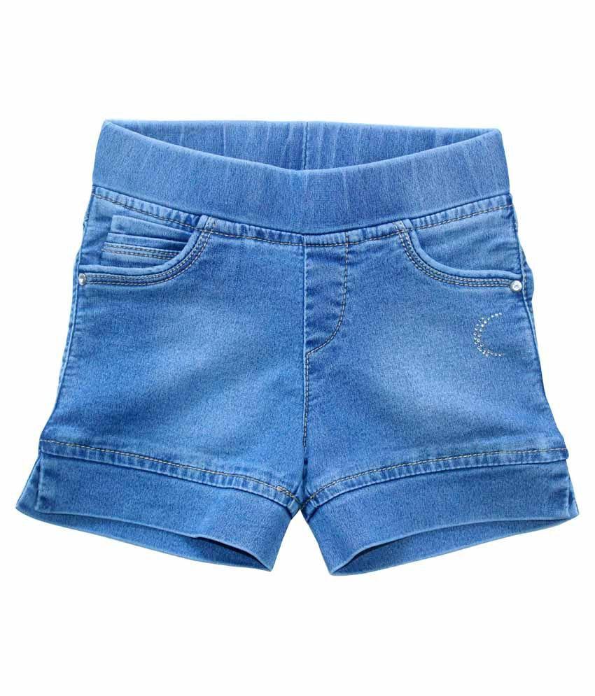 Kitts N Nevis Blue Shorts For Girls