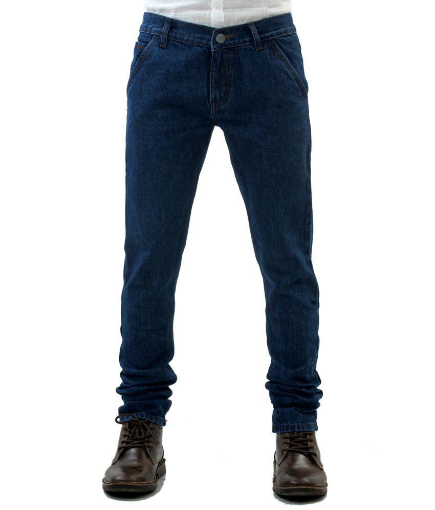 Mark Astro Blue Cotton Regalar Fit Jeans