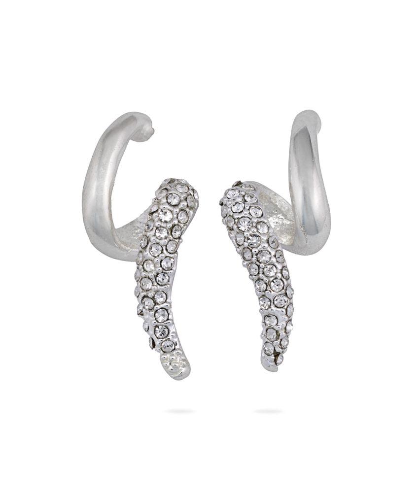 Oleva Silver Alloy Austrian Diamonds Without Chain Pendant Set