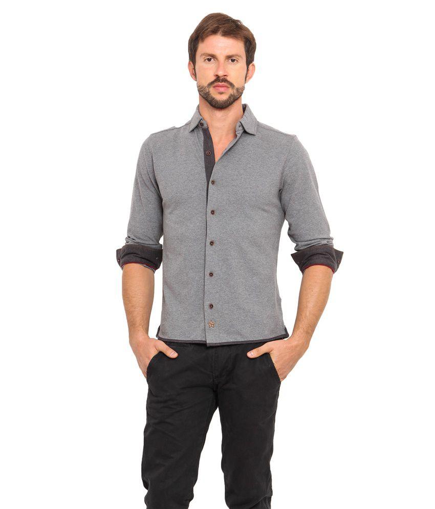 Smokestack Grey Casual Shirt