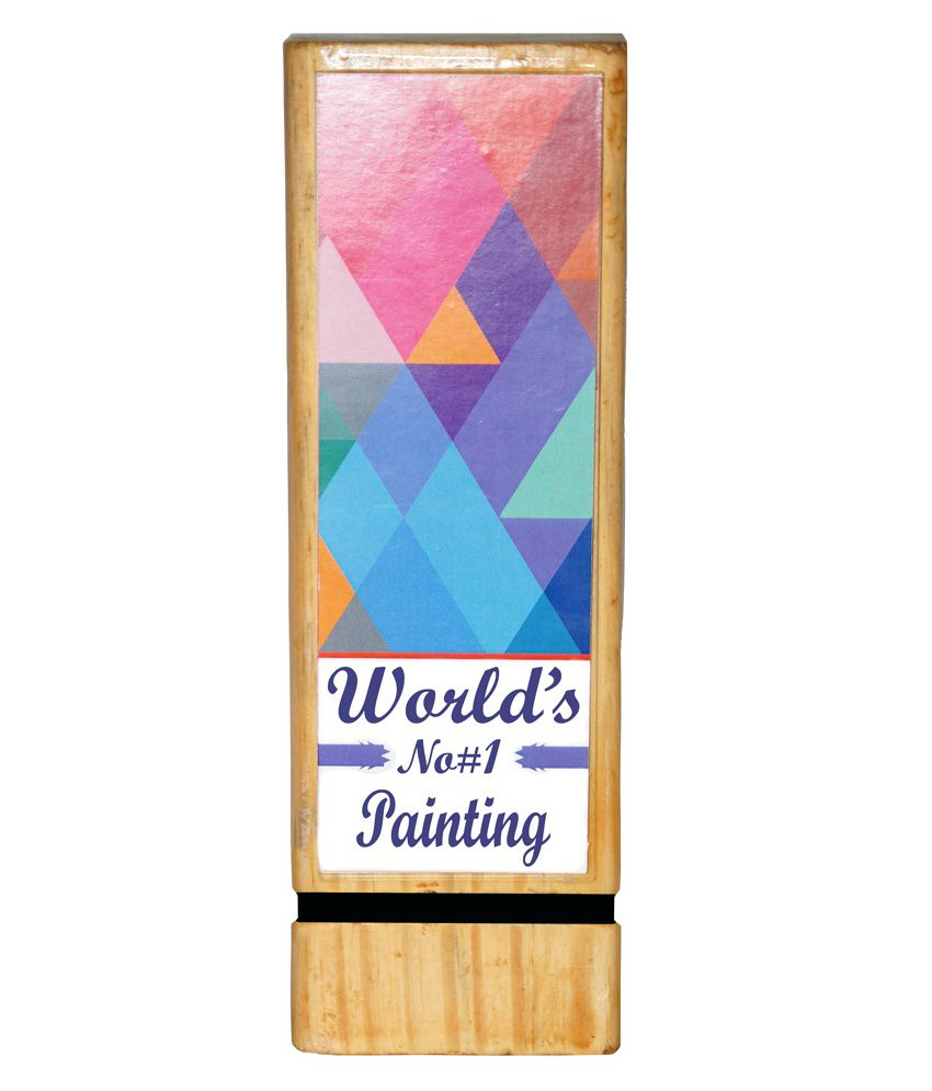 Trophydeal brown wooden worlds no 1 painting trophy buy trophydeal trophydeal brown wooden worlds no 1 painting trophy thecheapjerseys Images