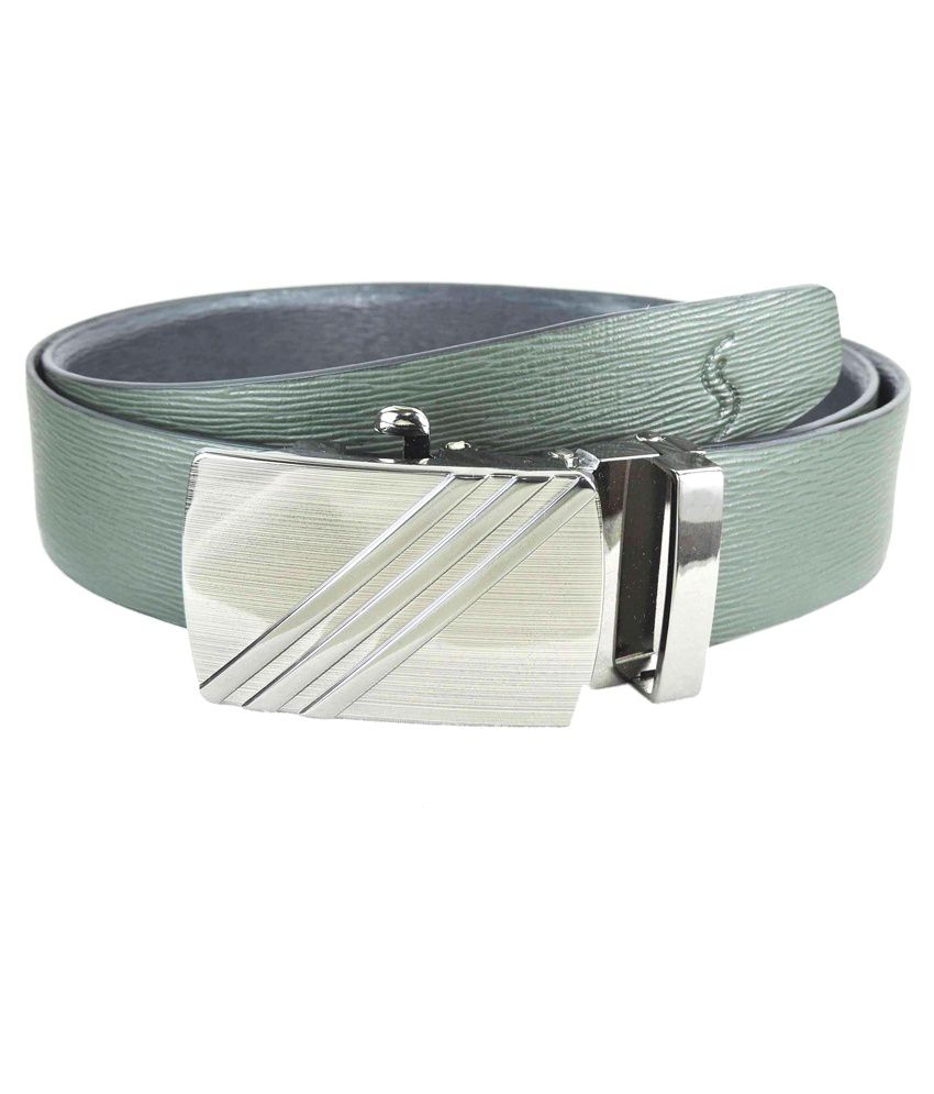 Sizzlers Green Leather Autolock Buckle Belt