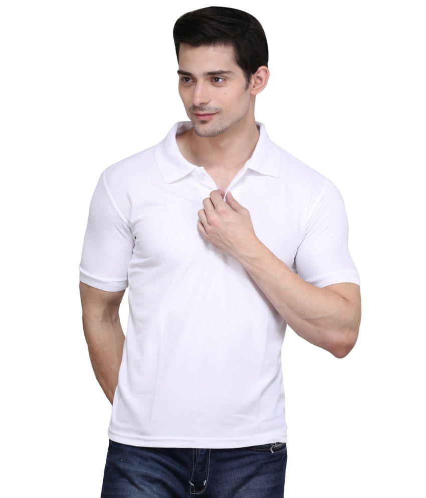 Highflier White Polyester T-Shirt