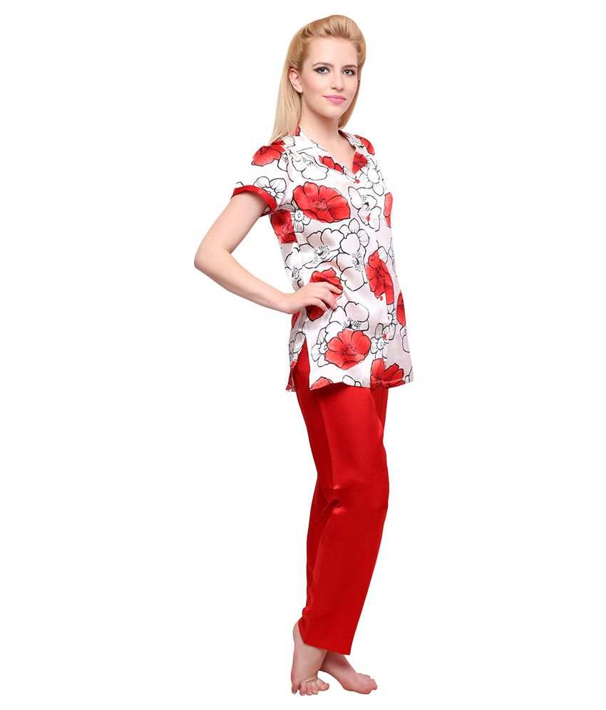 c1996ccb912 Buy Private Lives Red Satin Nightsuit Sets Online at Best Prices in ...