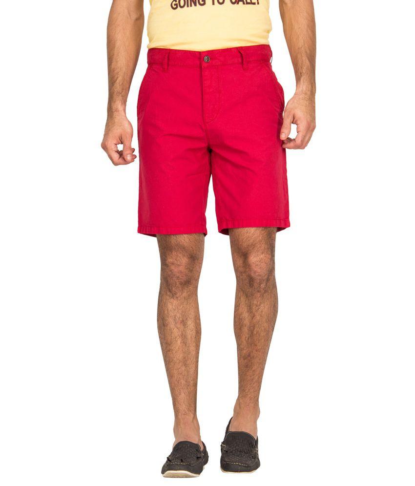 Blue Saint Red Cotton Printed Shorts