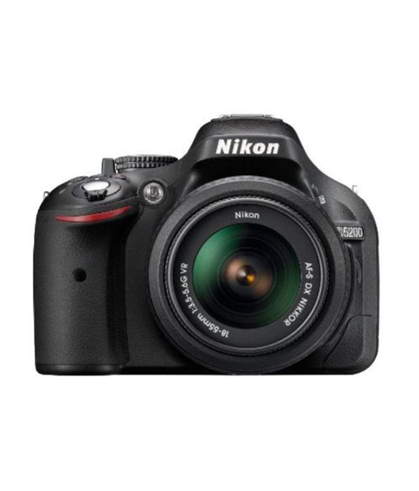 nikon d5200 dslr camera black with18-140mm vr lens 32-gb class 10 hd video card
