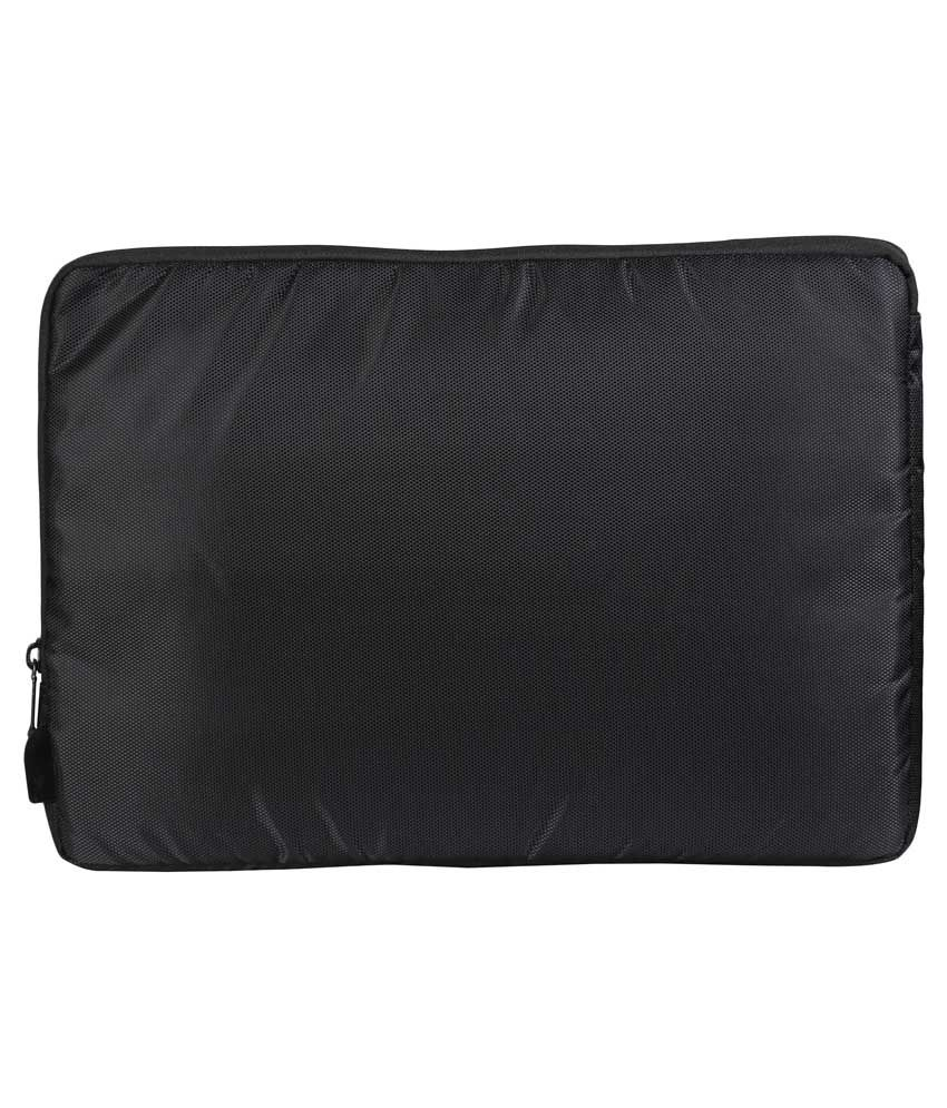 Zwart Black Polyester Laptop Sleeve