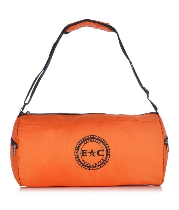 Estrella Companero Orange Polyester Trendy Gym Bag