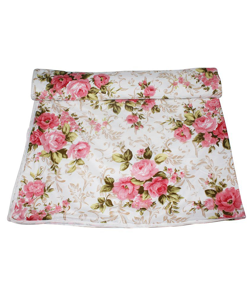 Frabjous Double Poly Cotton Pink Floral Dohar