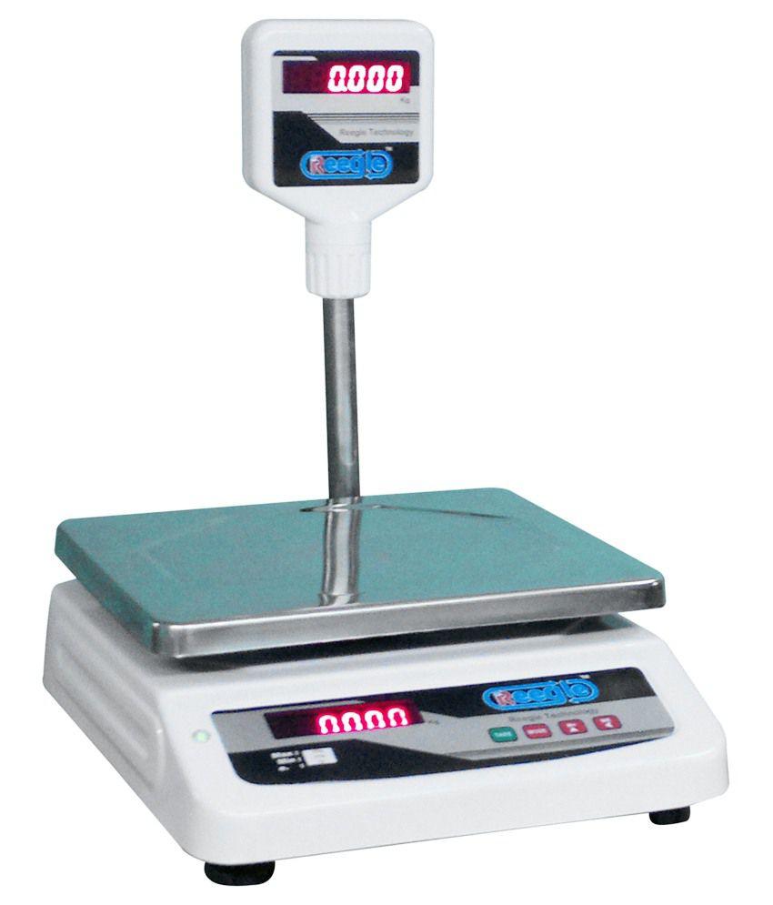 Reegle White Nickel Table Top Balance Weighing Machine 35 Kg: Buy ...