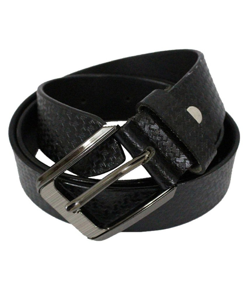 Zuby Black Leather Belt