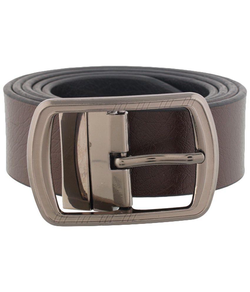 Mall4all Brown & Black Formal Belt