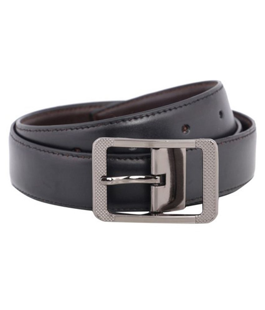 Buck & Doe Black And Brown Reversible Leather Belt