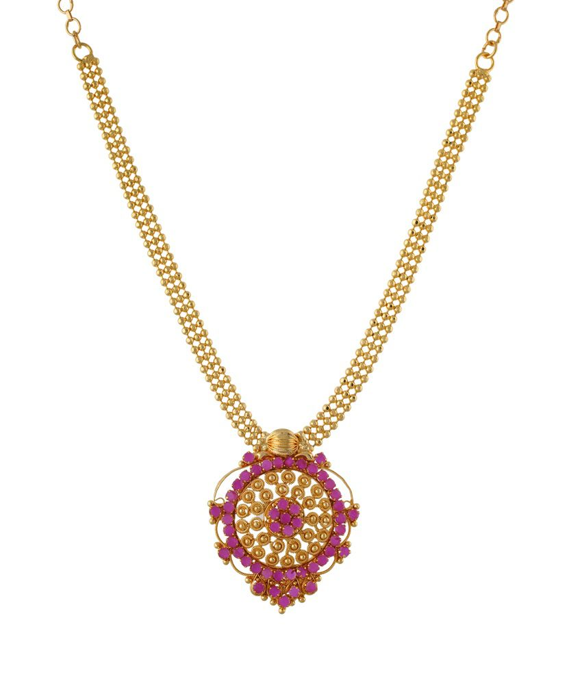Freshme Fashion Jewellery Gold Plated Crystal Designer Necklace