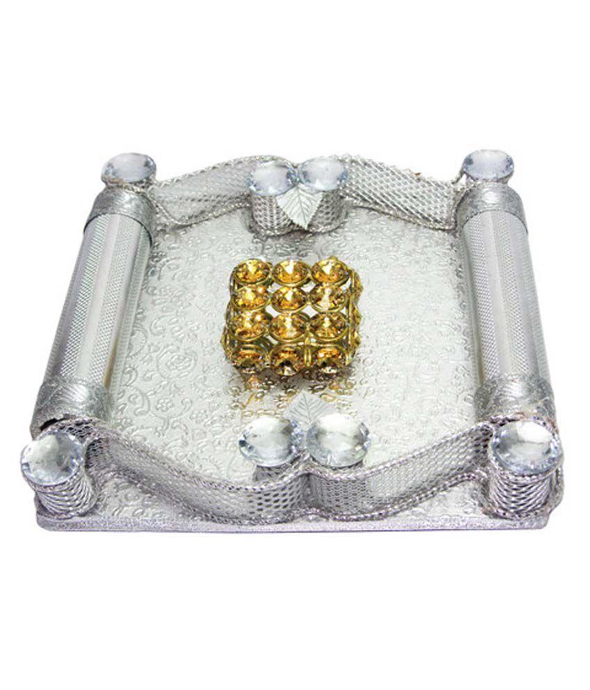 weddingpitara multicolor ring platter best price in india