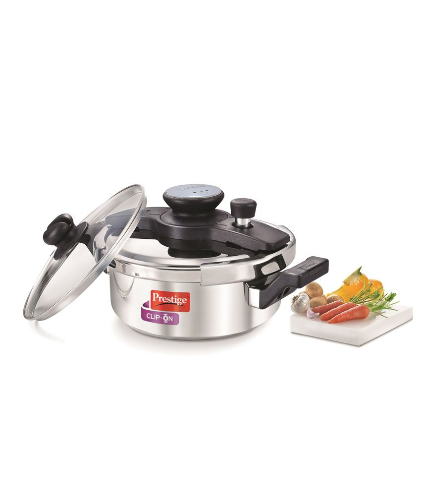 Prestige Clip On Series Stainless Steel 3 Litre Pressure Cooker ...