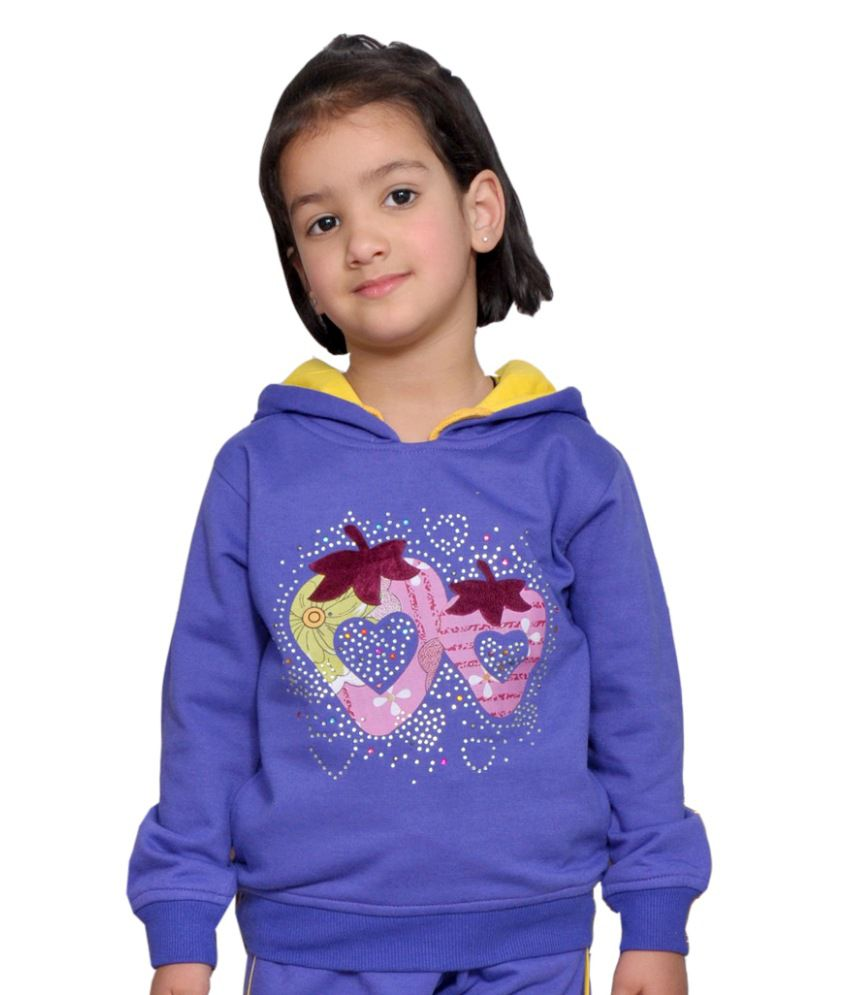 Shaun Blue Woolen Sweatshirt With Hood