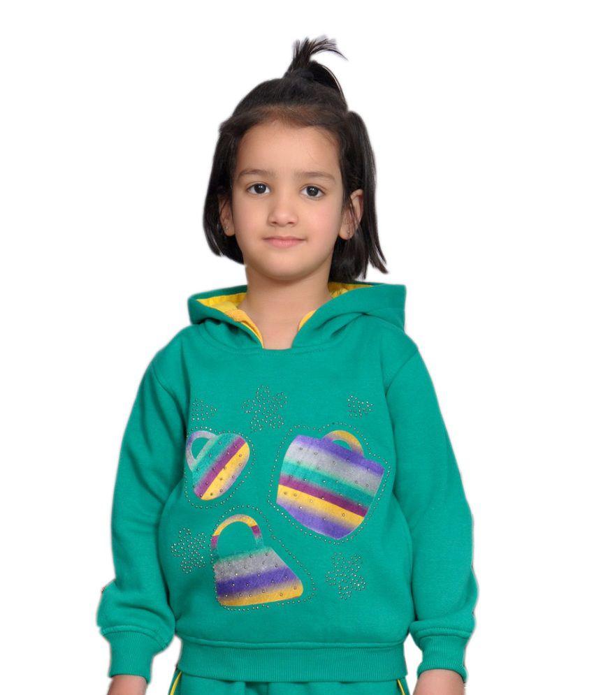 Shaun Green Woolen Sweatshirt With Hood