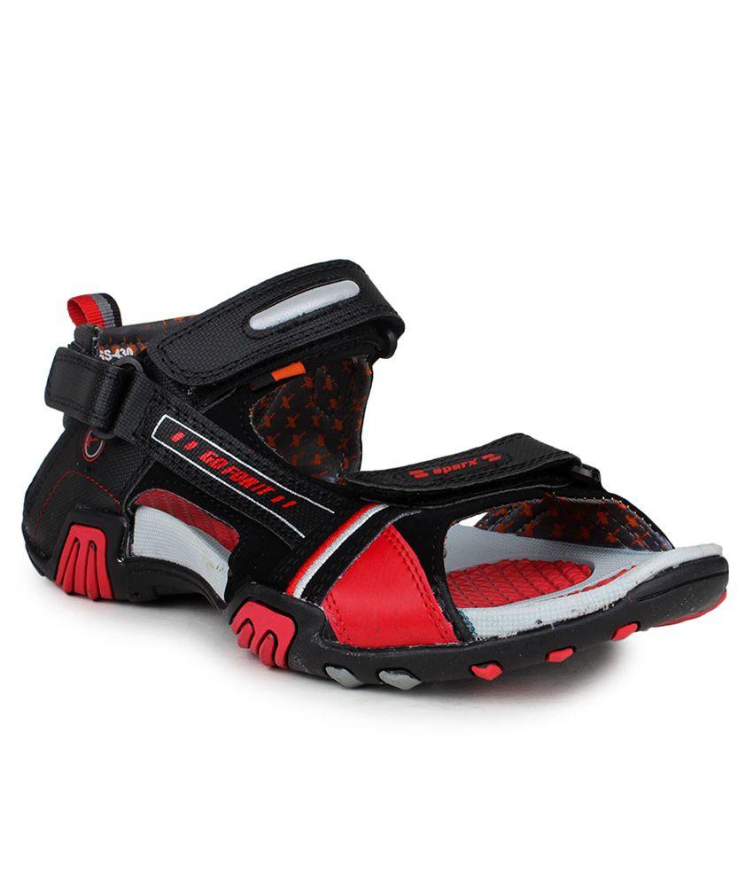 Sparx Black Floater Sandals