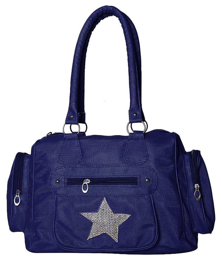 Gioviale Blue Shoulder Bag