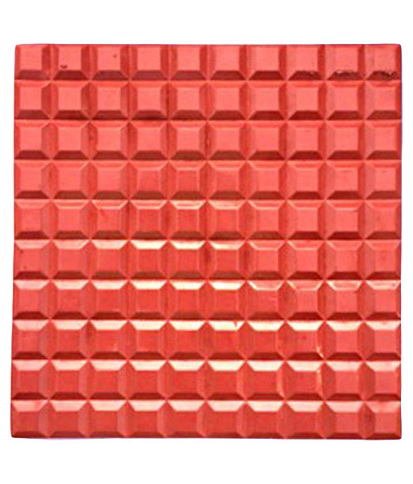 Buy White Feet Tiles Red Non Ceramic Tile 4 Pcs Online At Low Price In India Snapdeal