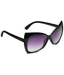 Yepme Black & Purple Oval Sunglasses For Women