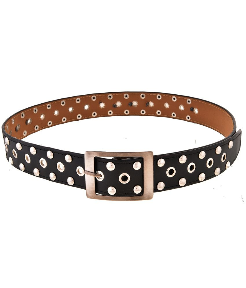 Mall4all Black & Golden Stylish Belt for Men