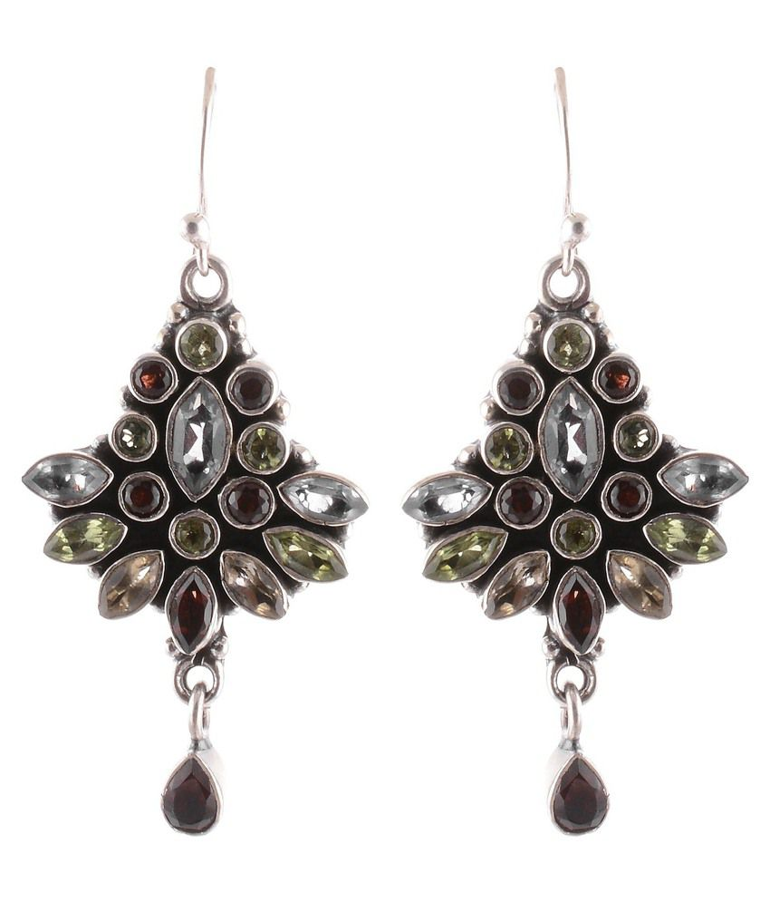 Sheela's Arts & Crafts Silver Alloy Hanging Earring