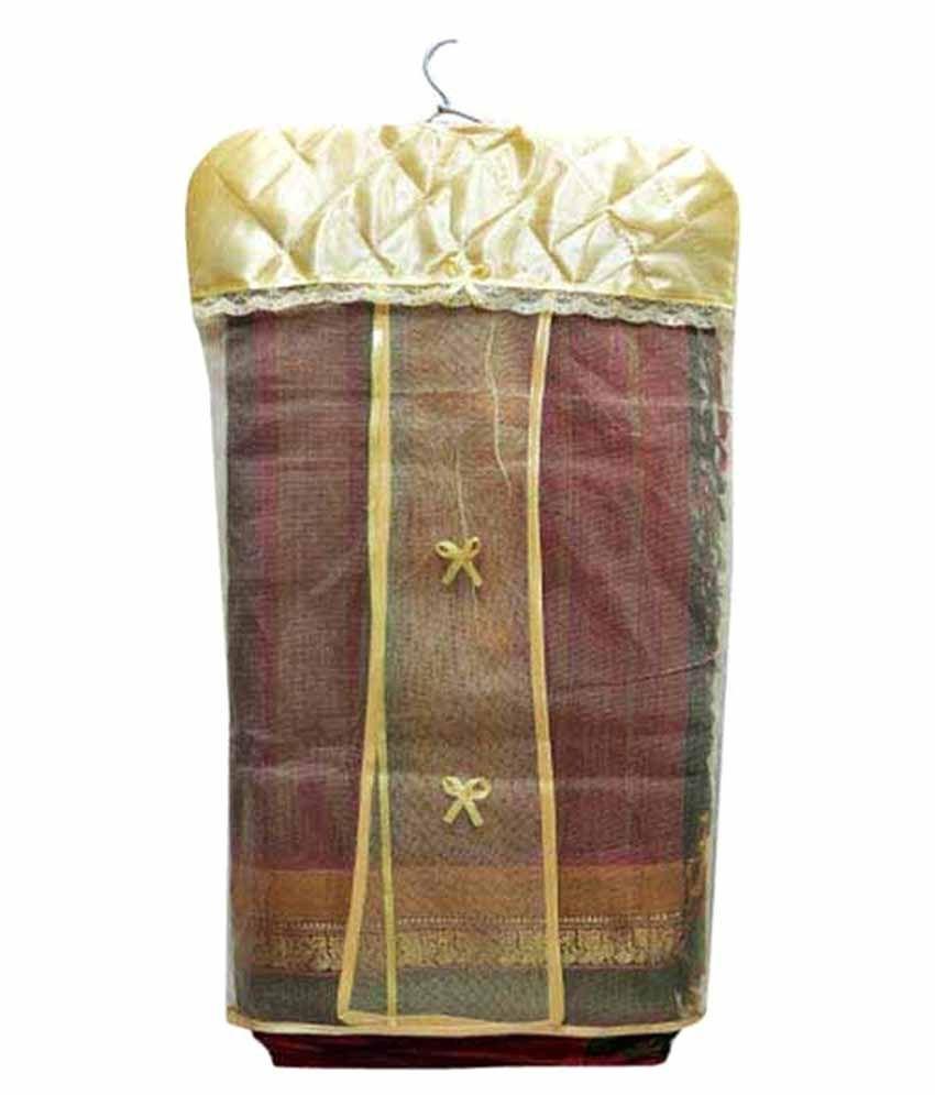Branded Satin & Net Hanging Saree Cover (Set Of 20 Pcs)