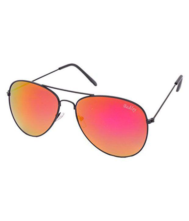 Backley Bs-1555 Orange Metal Aviator Sunglasses