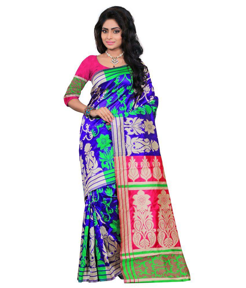 Indi Wardrobe Purple Silk Saree