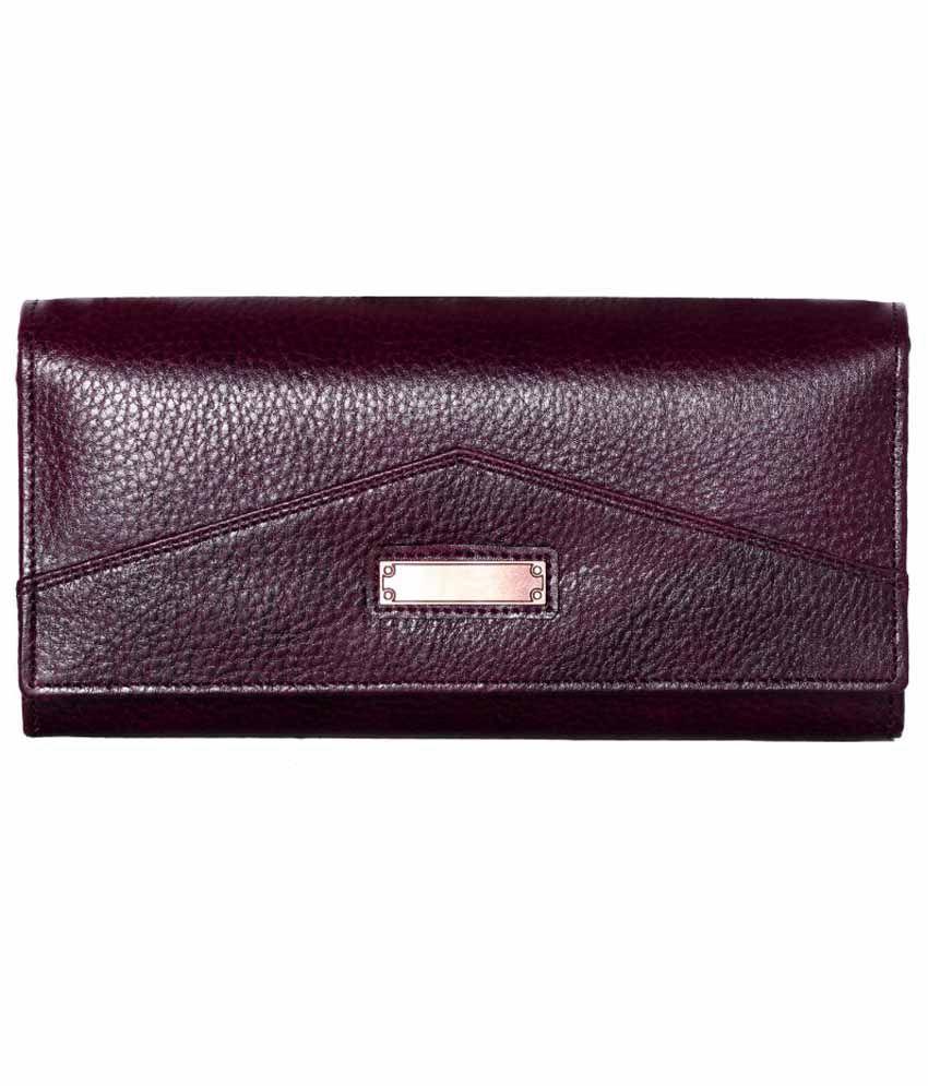 Rle Purple Leather Women Regular Wallet