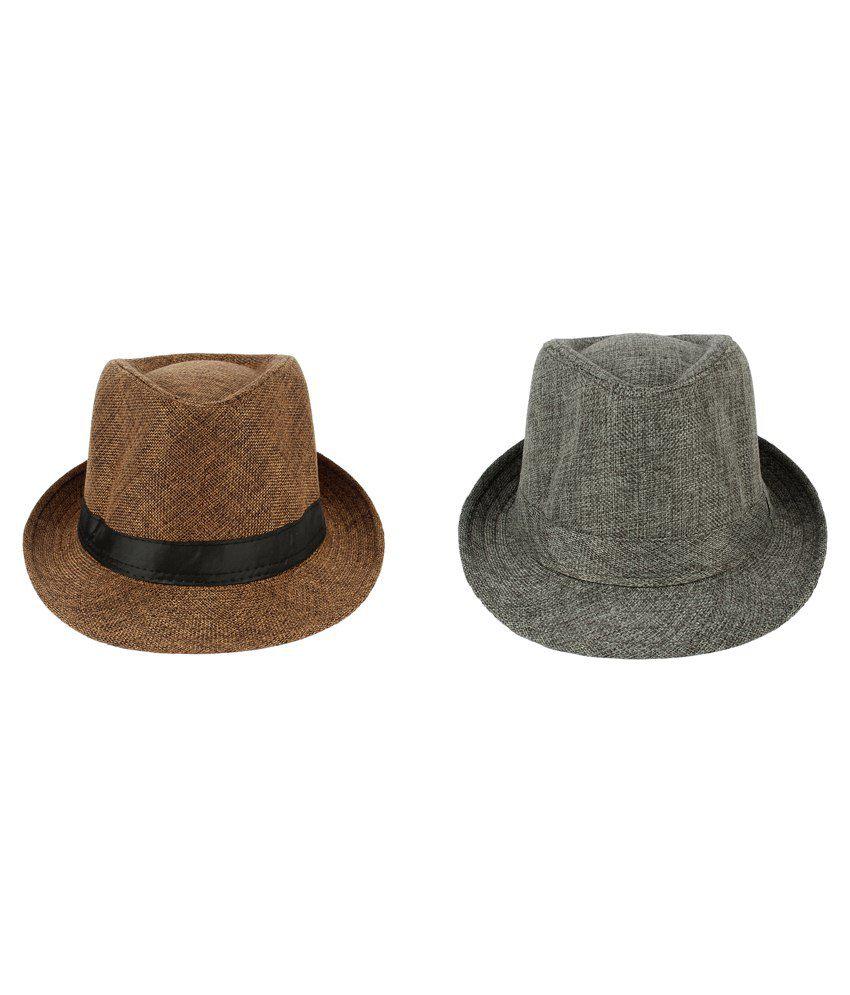Eccellente Combo Fedora Hat Brown and Grey